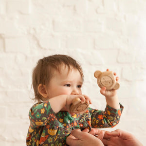 "BABAI Wooden Teether ""Monkey"" for 10mo+"