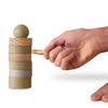 BABAI Wooden Balancing Game DARUMA in Khaki Color 3+