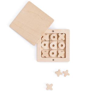 BABAI Wooden Tic-Tac-Toe Game Set in a Box on Magnets