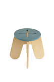BABAI Wooden Kids Stool X in Blue Color for 18m-7yrs