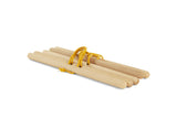 BABAI Wooden Hanger Set 5pcs with Sand Yellow Cotton Ropes
