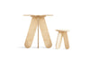 BABAI 2 Kids Wooden Tables & 8 Stools in Natural Finish for 1.5-7yrs