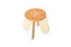 BABAI Wooden Kids Stool X in Terra Color for 18m-7yrs