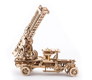 UGears Mechanical Wooden Model 3D Puzzle Kit Fire Truck with Ladder