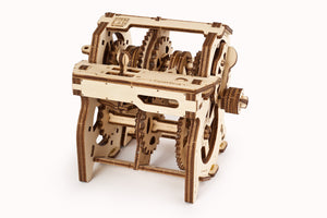 UGears Mechanical Wooden Model 3D Puzzle Kit STEM LAB Gearbox
