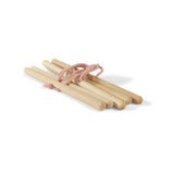 BABAI Wooden Hanger Set 5pcs with Pink Cotton Ropes