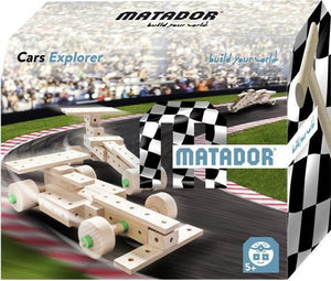 MATADOR Car Explorer 50 pcs Wood Building Set 5+ age