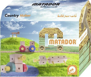 MATADOR Themeworld Country Maker Explorer 37 pcs Wooden Construction Set 5+ age