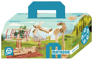 MATADOR Explorer E100 222 pcs Wood Building Set 5+ age