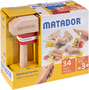 MATADOR Maker M034 34 pcs Wood Building Set 3+ age
