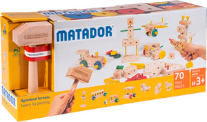 MATADOR Maker M070 70 pcs Wood Building Set 3+ age