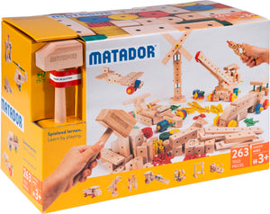MATADOR Maker M263  263 pcs Wooden Construction Set for kids  age 3+