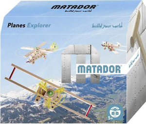 MATADOR Planes Explorer 65 pcs Wood Building Set 5+ age