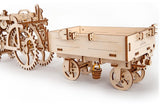 UGears Mechanical Wooden Model 3D Puzzle Kit Trailer for Tractor