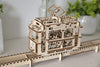 UGears Mechanical Wooden Model 3D Puzzle Kit Tram with Rails