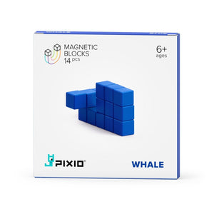 PIXIO Magnetic Blocks Color Series Animals Blue Whale Box
