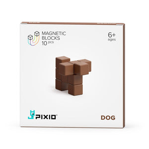 PIXIO Magnetic blocks Color Series Animals brown Dog Box