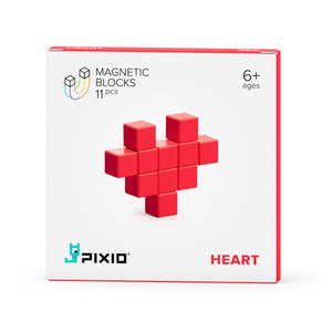 PIXIO Magnetic Blocks Red Heart Color Series
