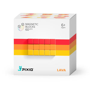PIXIO Abstract Series LAVA 60 Magnetic Blocks in 3 colors 6+ ages