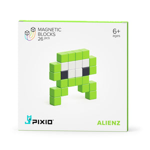 PIXIO Magnetic Blocks Mini Monsters Story Series Alienz Box
