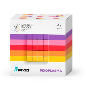 PIXIO Abstract Series PIXOPLASMA 60 Magnetic Blocks in 5 colors, 6+ ages