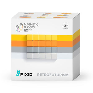 PIXIO Abstract Series RETROFUTURISM 60 Magnetic Blocks in 4 colors, 6+ ages