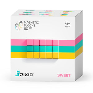PIXIO Abstract Series SWEET 60 Magnetic Blocks in 3 colors 6+ ages