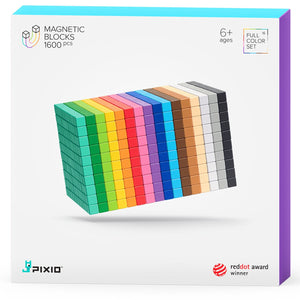 Pixio Design Series 1600 magnetic blocks 16 colors 6+ ages