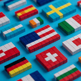 PIXIO Magnetic Blocks Flags and Free Mobile Application with Building Ideas
