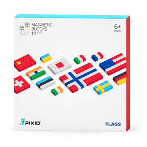 Pixio Story Series Flags 111 magnetic blocks 11 colors 6+ ages