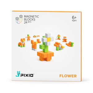 PIXIO Magnetic Blocks  Story Series Flower and Free Mobile Application with Building Ideas