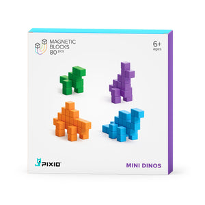 PIXIO Story Series Mini Dinos 80 magnetic blocks 4 colors 6+ ages