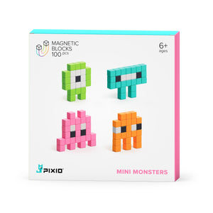 PIXIO Story Series Mini Monsters 100 magnetic blocks 6 colors 6+ ages