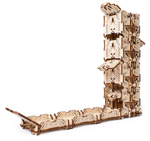 UGears Games Wooden Mechanical Model Kit Modular Dice Tower