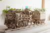 UGears Mechanical Wooden Model 3D Puzzle Kit Locomotive with Tender
