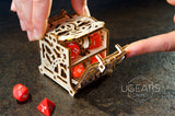 UGears Games Wooden Mechanical Model Kit Dice Keeper