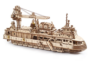 UGears Mechanical Wooden Model 3D Research Vessel