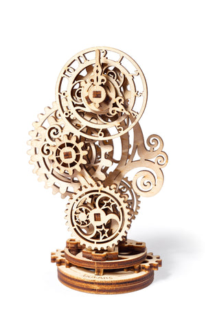 UGears Mechanical Wooden Model 3D Puzzle Kit Steampunk Clock