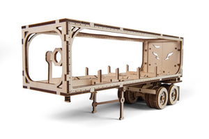 UGears Mechanical Wooden Model 3D Puzzle Kit Trailer for Heavy Boy Truck VM-03