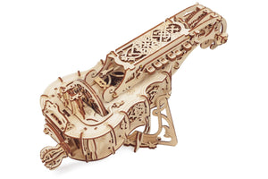 UGears Wooden Mechanical Model Hurdy Gurdy Musical Instrument