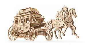 UGears Mechanical Wooden Model 3D Puzzle Kit Stagecoach
