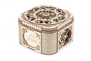 UGears Mechanical Wooden Model 3D Puzzle Kit Treasure Jewelry Box