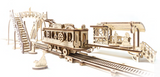 UGears Mechanical Wooden Model 3D Puzzle Kit Mechanical Town Series Tram Line tramline
