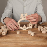 "BABAI Wooden Board Game ""Creative Balancer"" in Natural Finish 3+"