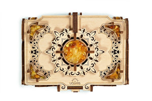 UGears Wooden Mechanical Model Kit Amber Jewelry Box