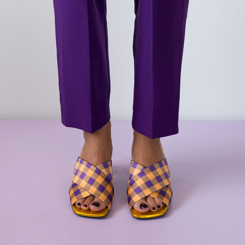 || SAMPLE SALE || MADGE Gold/Purple