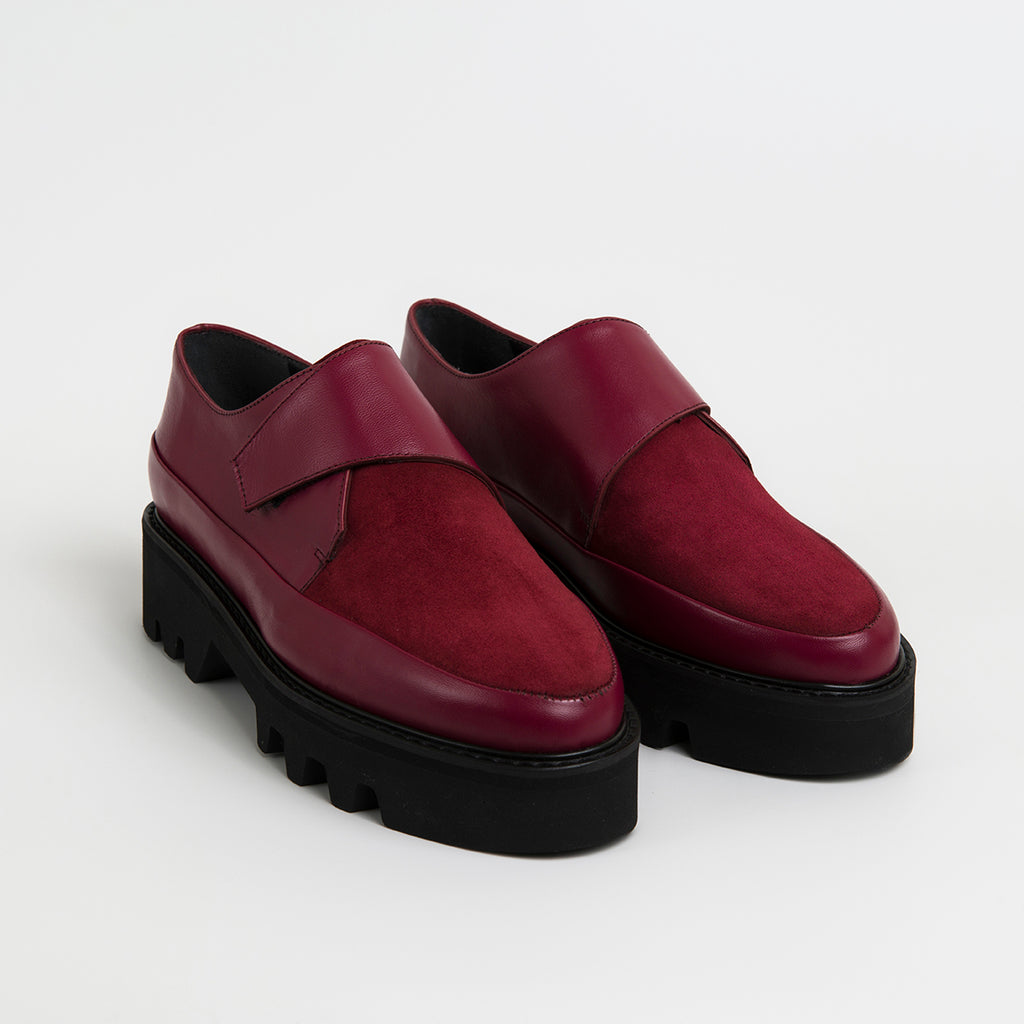 WRAP UP - Bordeaux Leather Platform Creepers