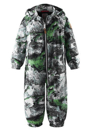 Water Repellent Mid-Season Jumpsuit with Foot Loops, Waterproof Seams & Detachable Hood - Bennas