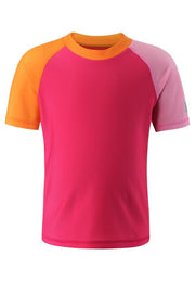 Short-Sleeve Swim Shirt with UPF 50+ Protection & Longer Back for Additional Coverage - Cedros