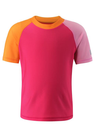 Short-Sleeve Swim Shirt with SPF 50+ UV Protection & Longer Back for Additional Coverage - Cedros
